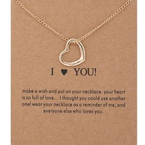 Jewelry - 5 for $25 Heart Pendant Gold Color Necklace
